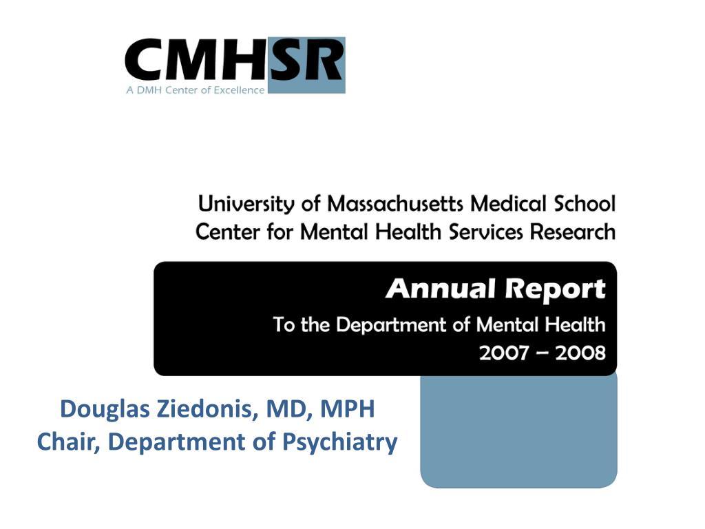 Douglas Ziedonis, MD, MPH