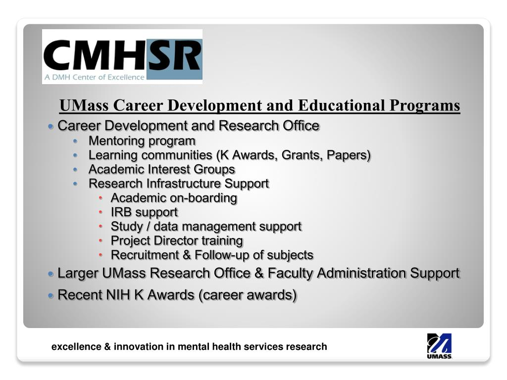 UMass Career Development and Educational Programs