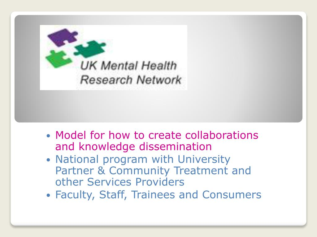 Model for how to create collaborations and knowledge dissemination