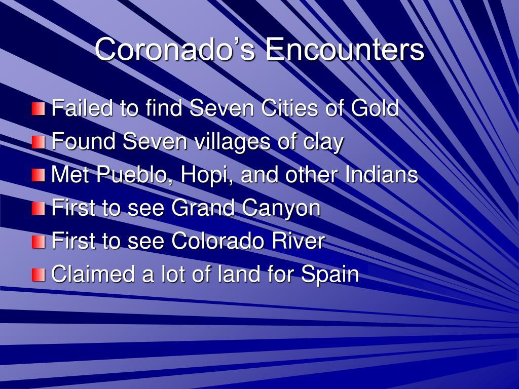 Coronado's Encounters