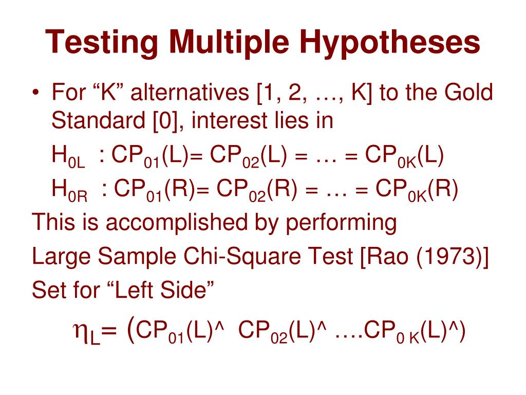 Testing Multiple Hypotheses