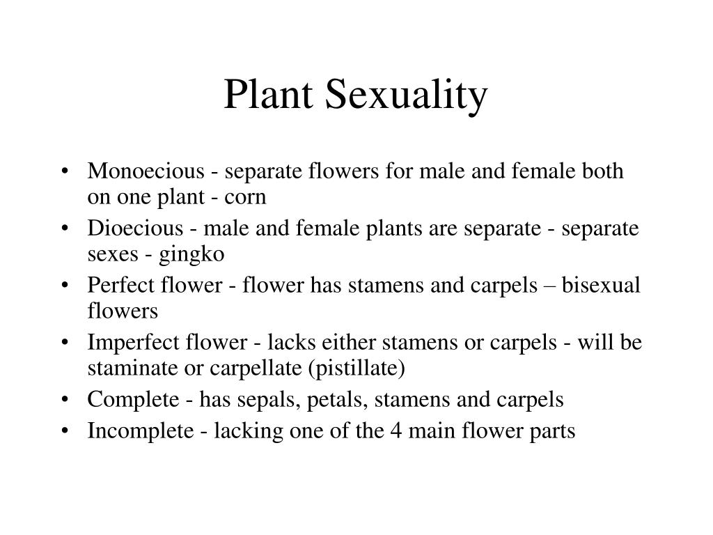 Plant Sexuality