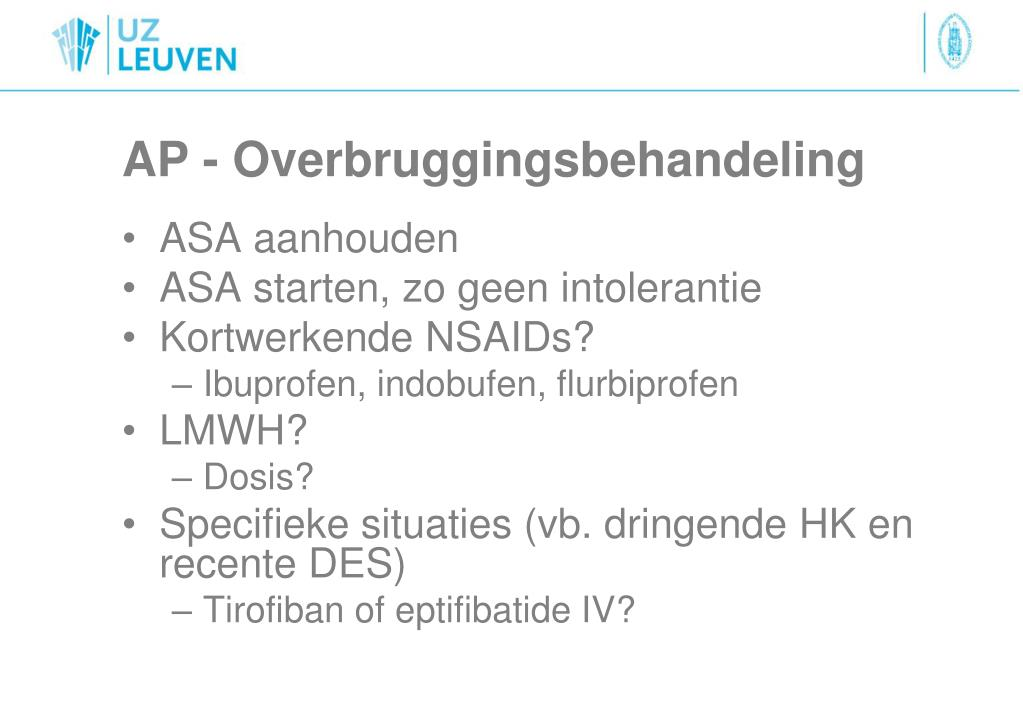 AP - Overbruggingsbehandeling