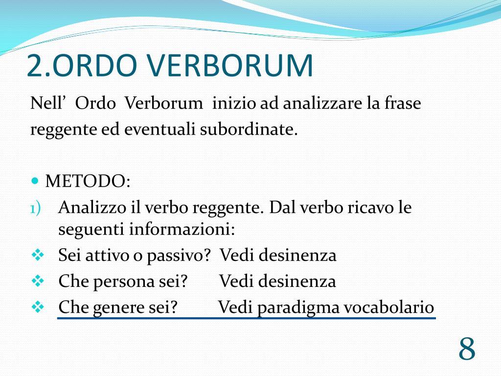 2.ORDO VERBORUM