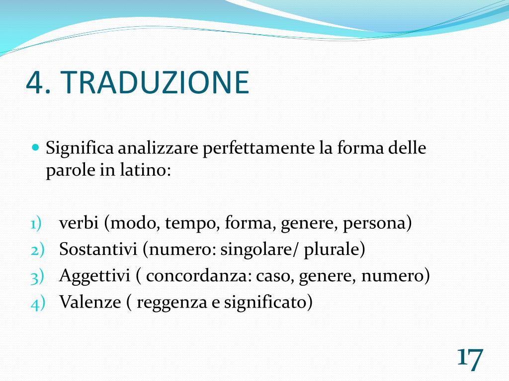 4. TRADUZIONE