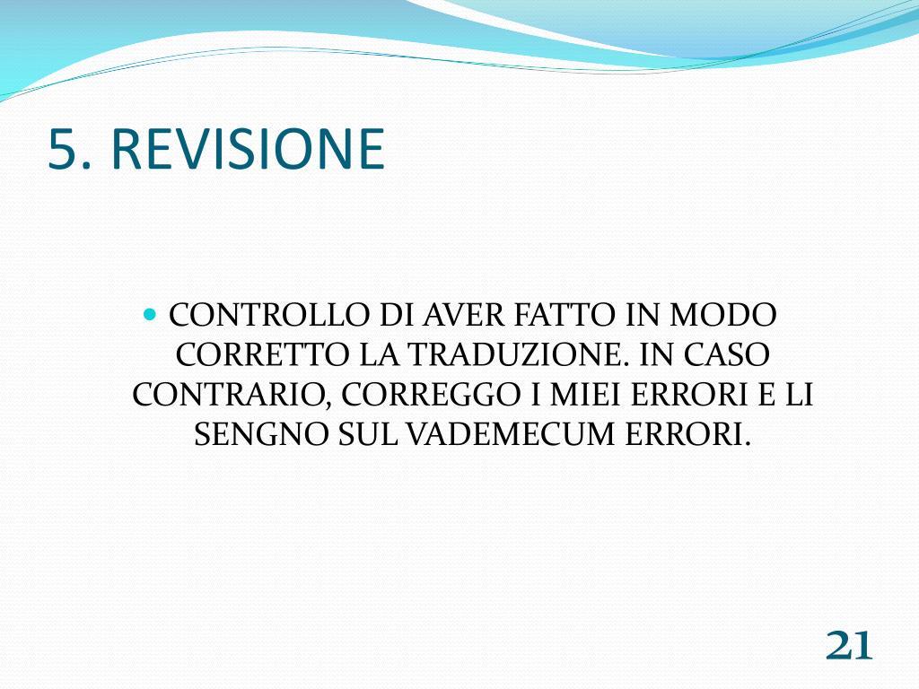 5. REVISIONE