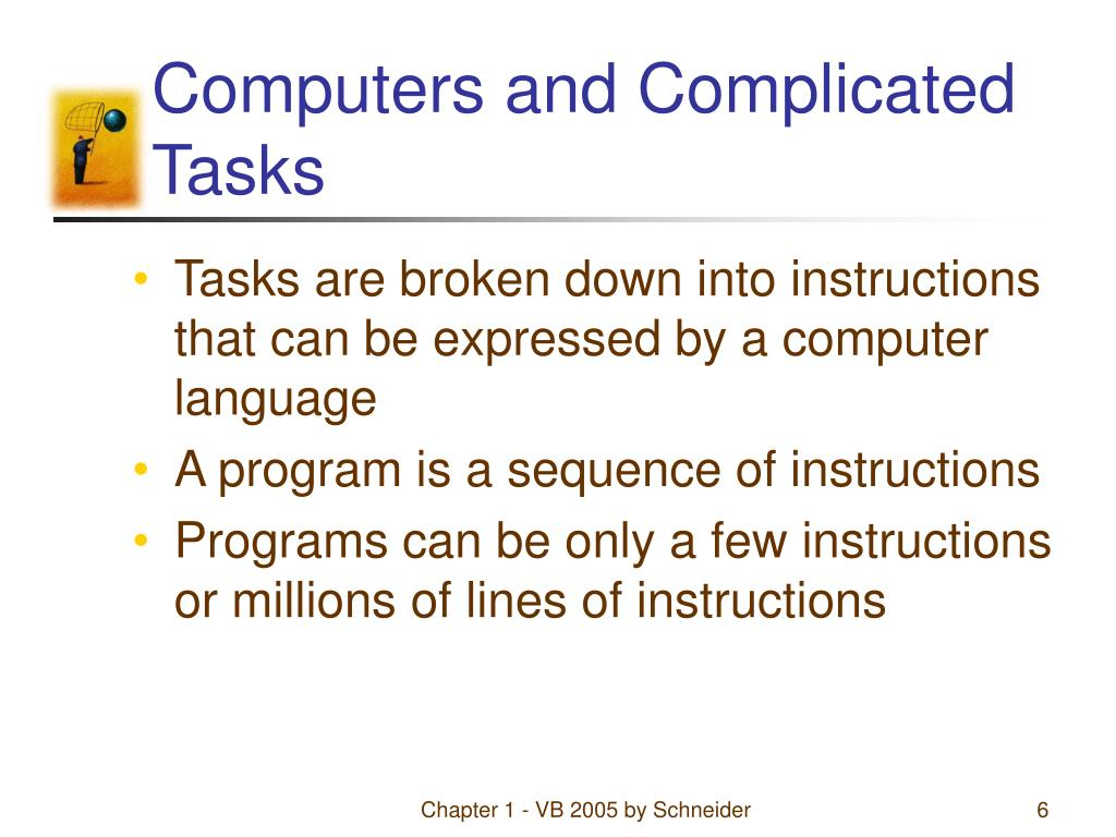 Computers and Complicated Tasks