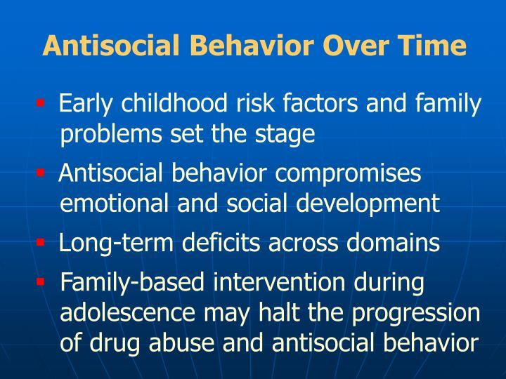 Antisocial Behavior Over Time