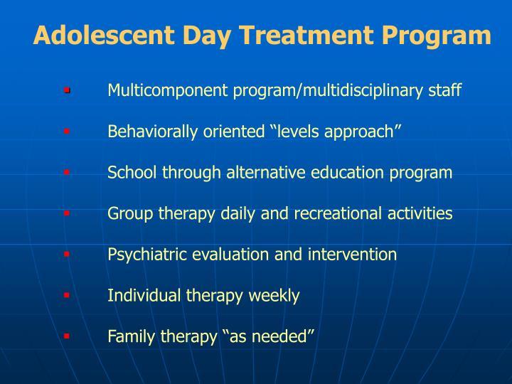 Adolescent Day Treatment Program