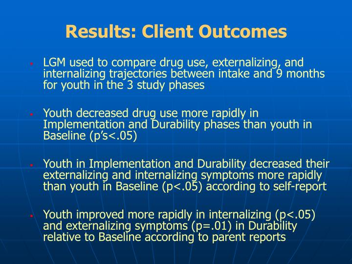 Results: Client Outcomes