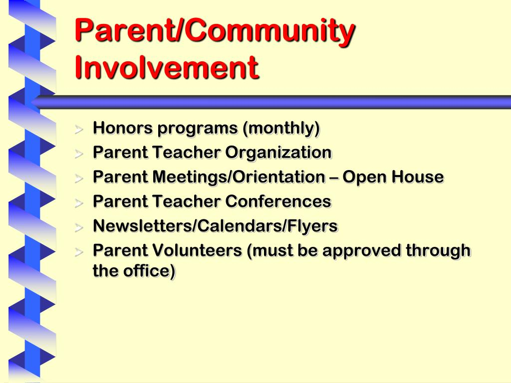 Parent/Community Involvement