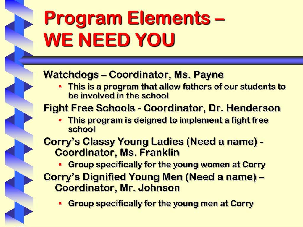Program Elements –