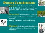 nursing considerations45