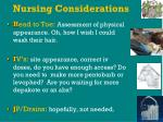 nursing considerations46