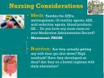 nursing considerations48