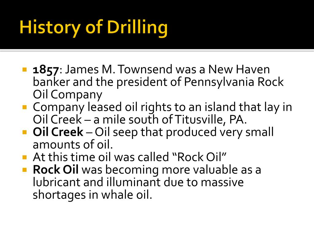History of Drilling