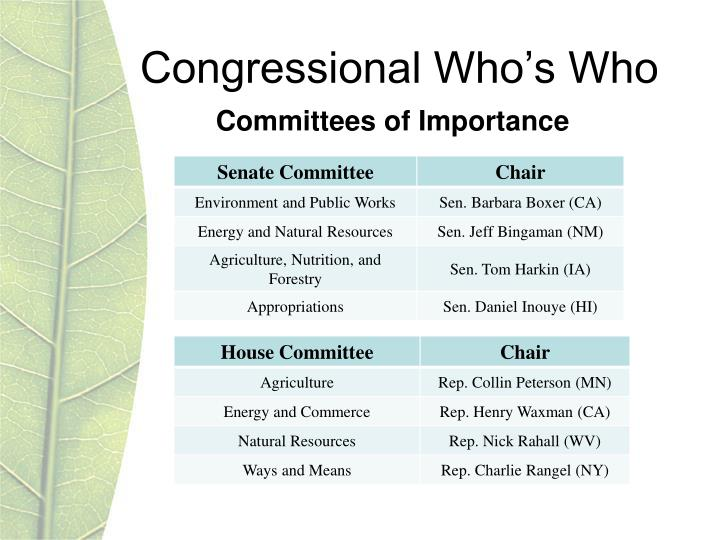 Congressional Who's Who