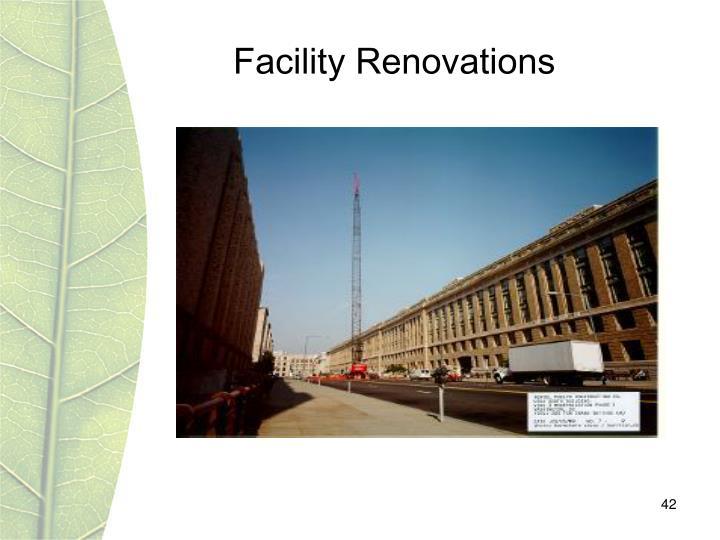 Facility Renovations