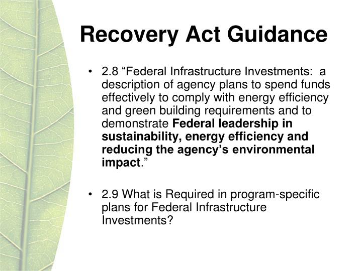 Recovery Act Guidance