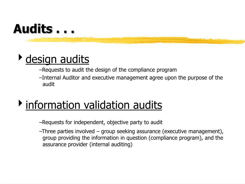 Audits . . .