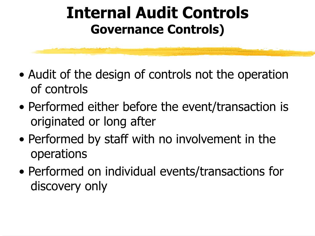 Internal Audit Controls