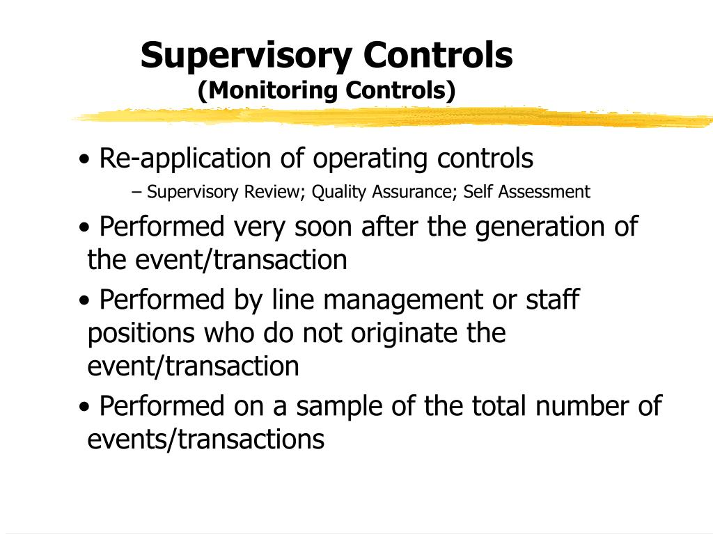 Supervisory Controls
