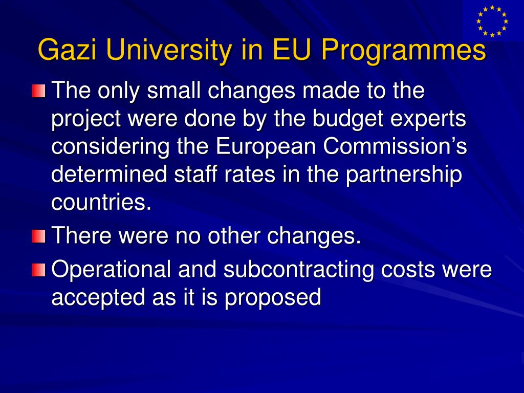 Gazi University in EU Programmes