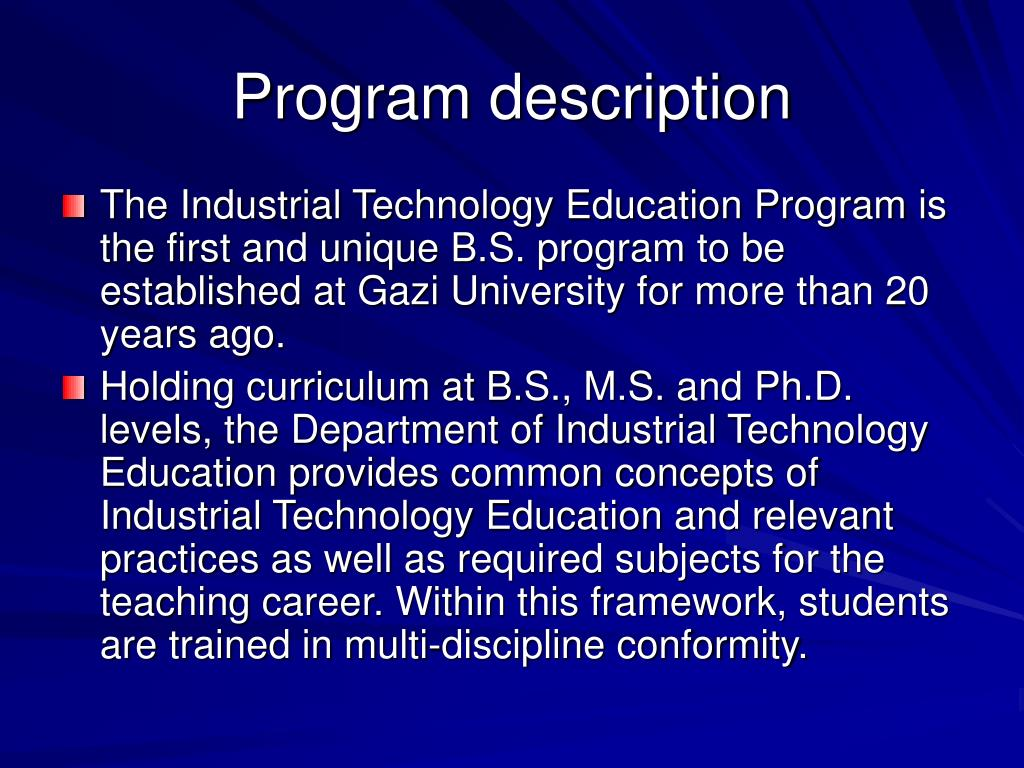 Program description