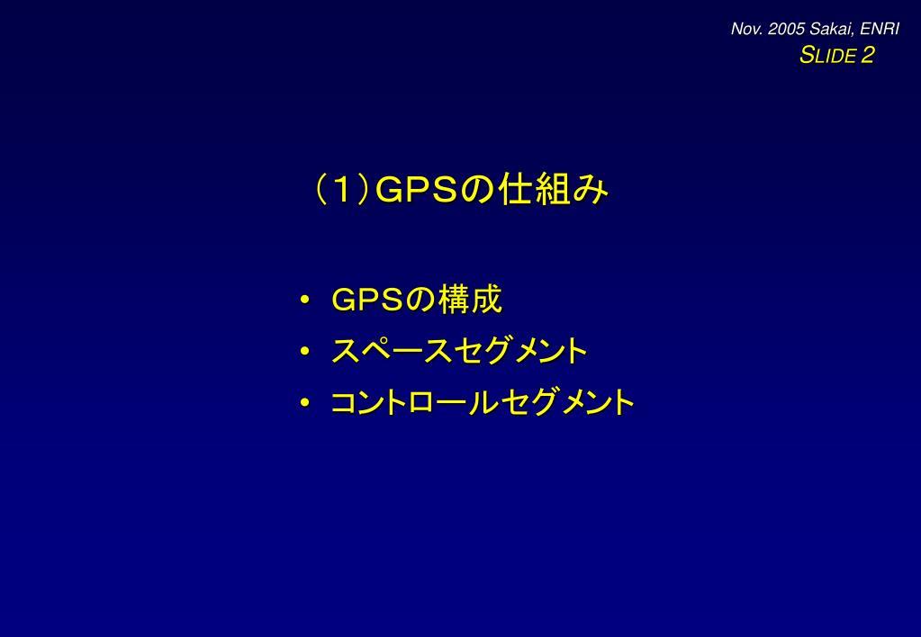 (1)GPSの仕組み
