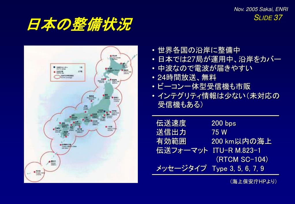 日本の整備状況