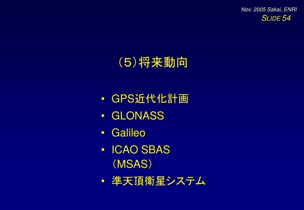 (5)将来動向