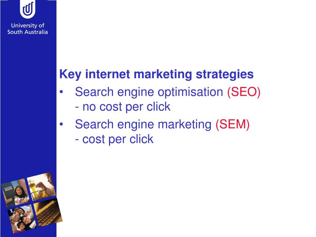 Key internet marketing strategies