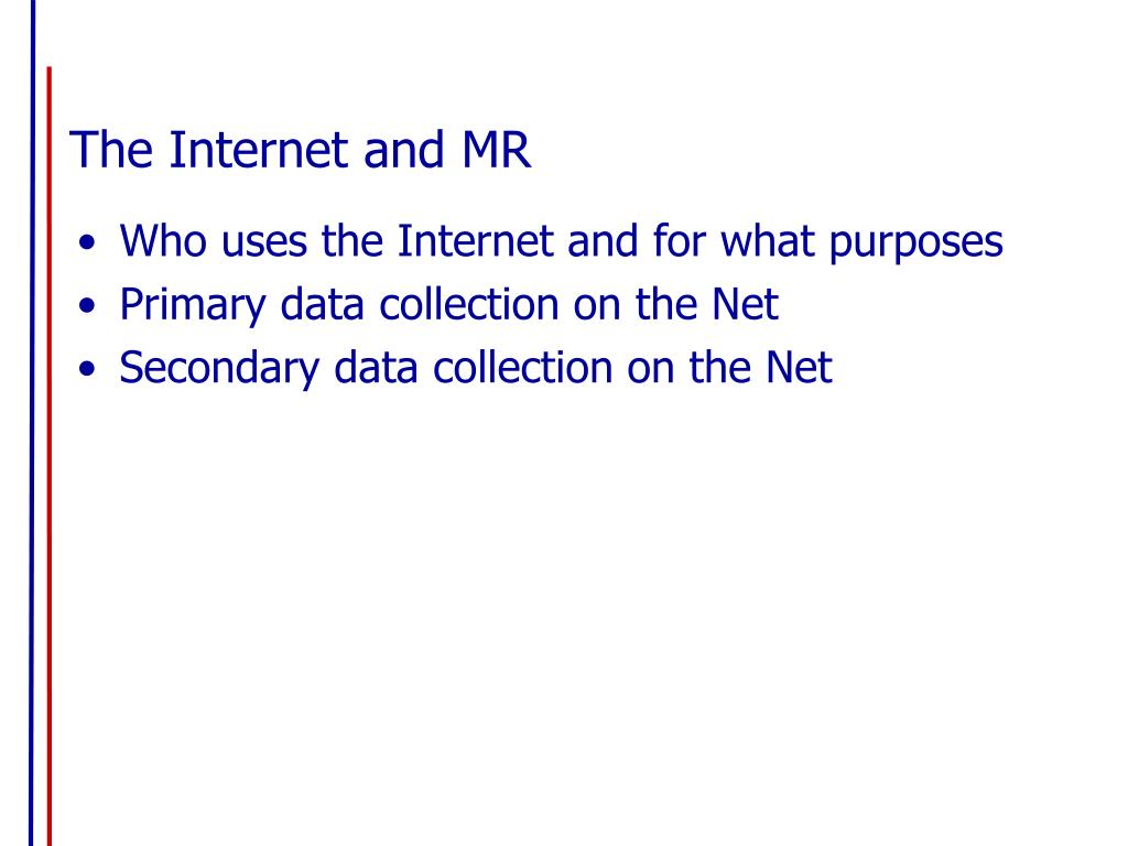 The Internet and MR