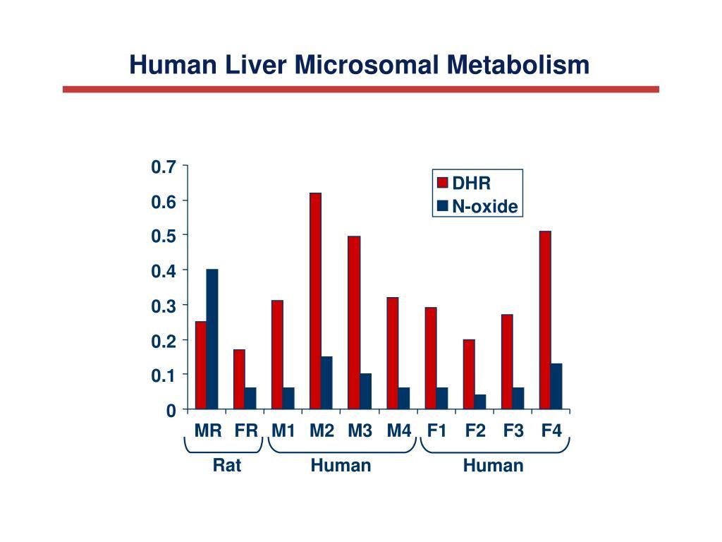 Human Liver Microsomal Metabolism