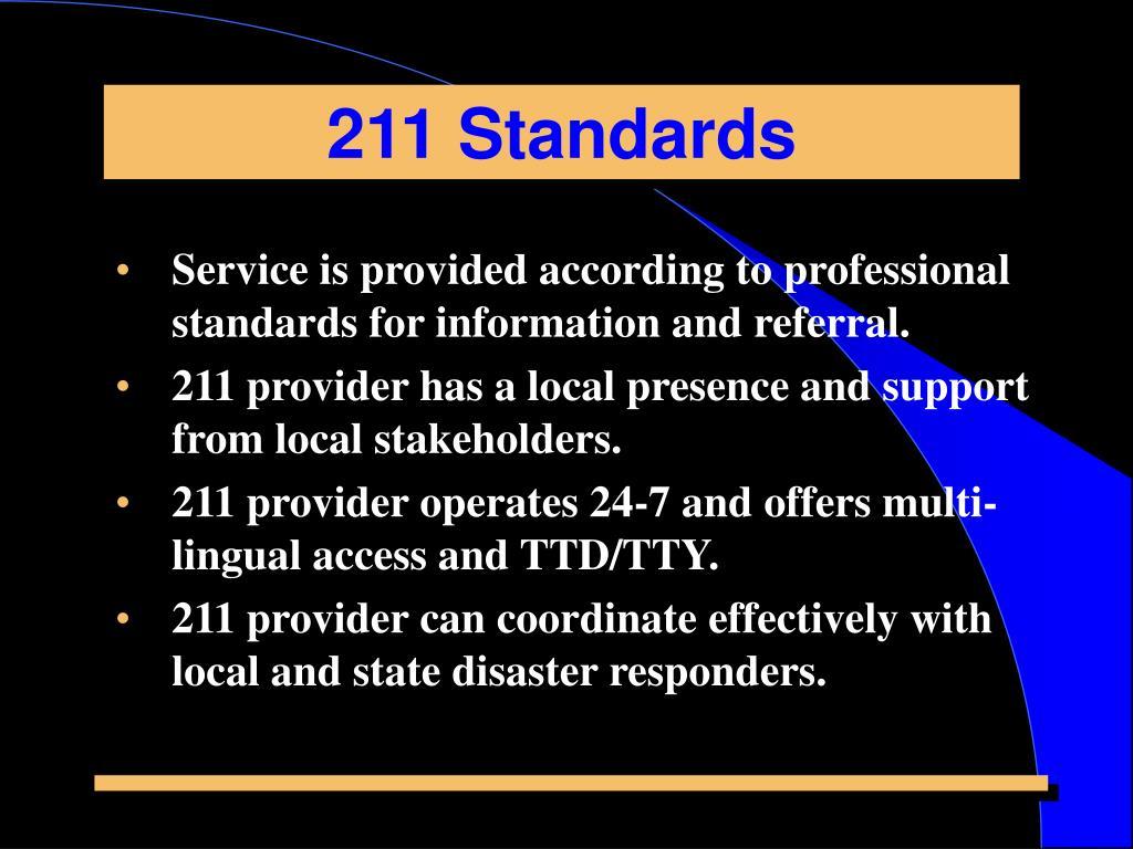 211 Standards