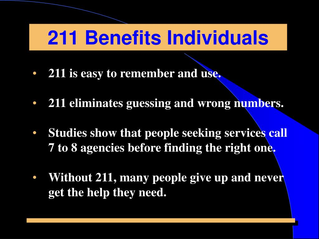 211 Benefits Individuals