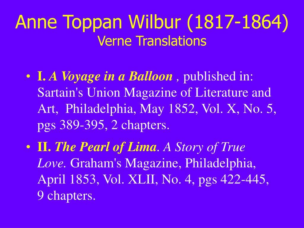 Anne Toppan Wilbur (1817-1864)