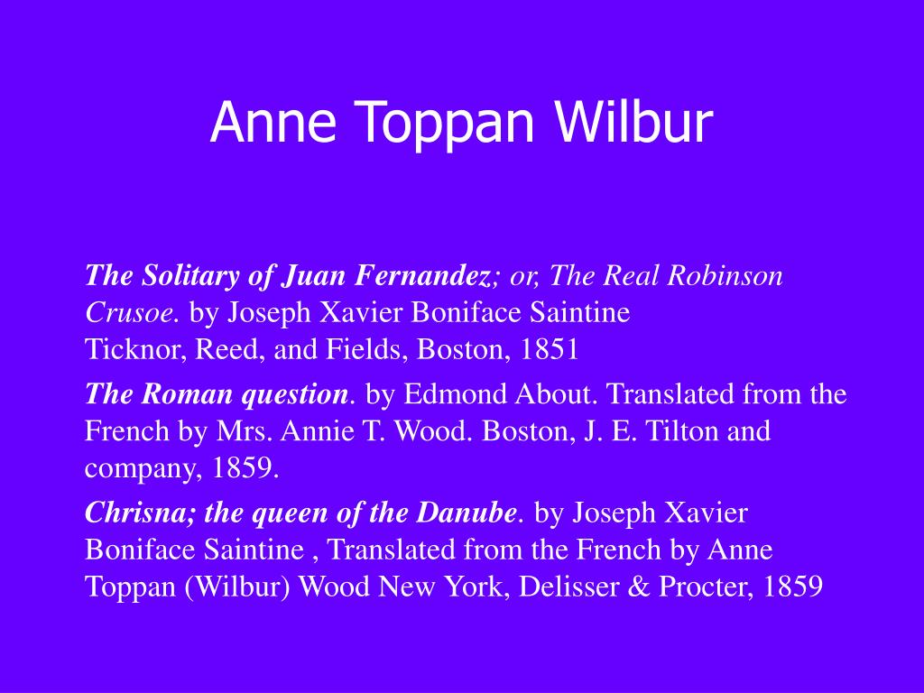 Anne Toppan Wilbur