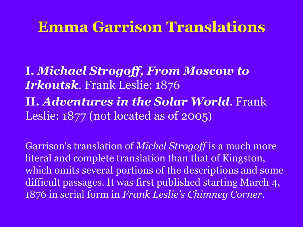 Emma Garrison Translations