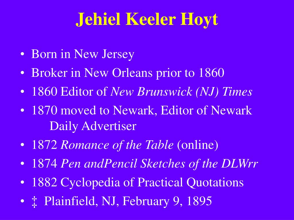Jehiel Keeler Hoyt