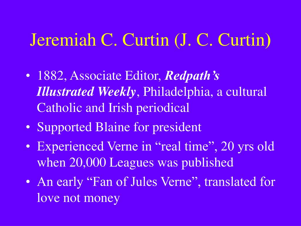 Jeremiah C. Curtin (J. C. Curtin