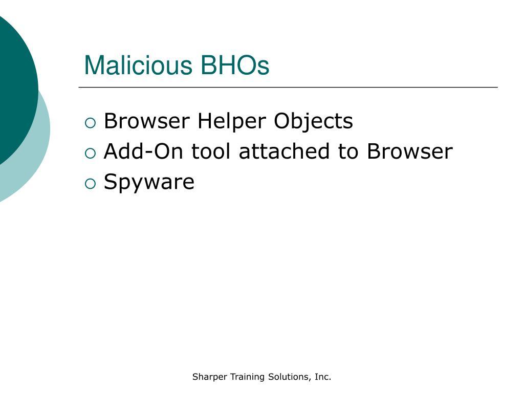 Malicious BHOs