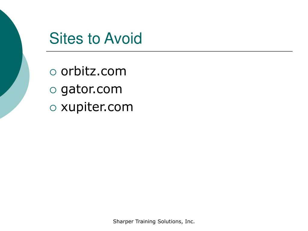 Sites to Avoid