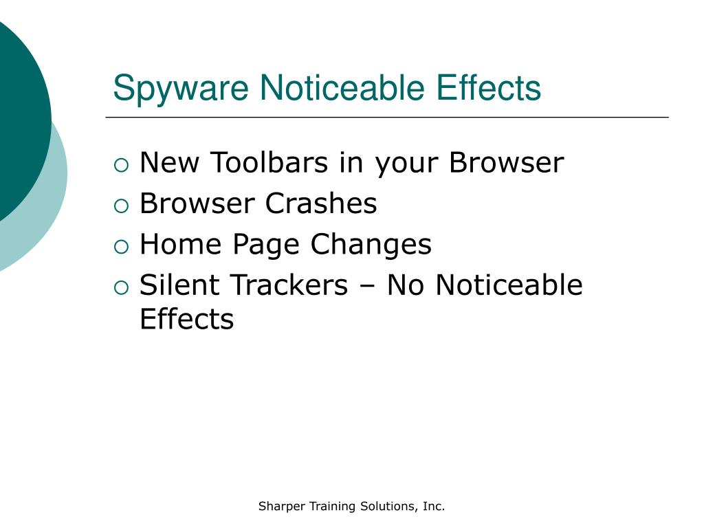 Spyware Noticeable Effects