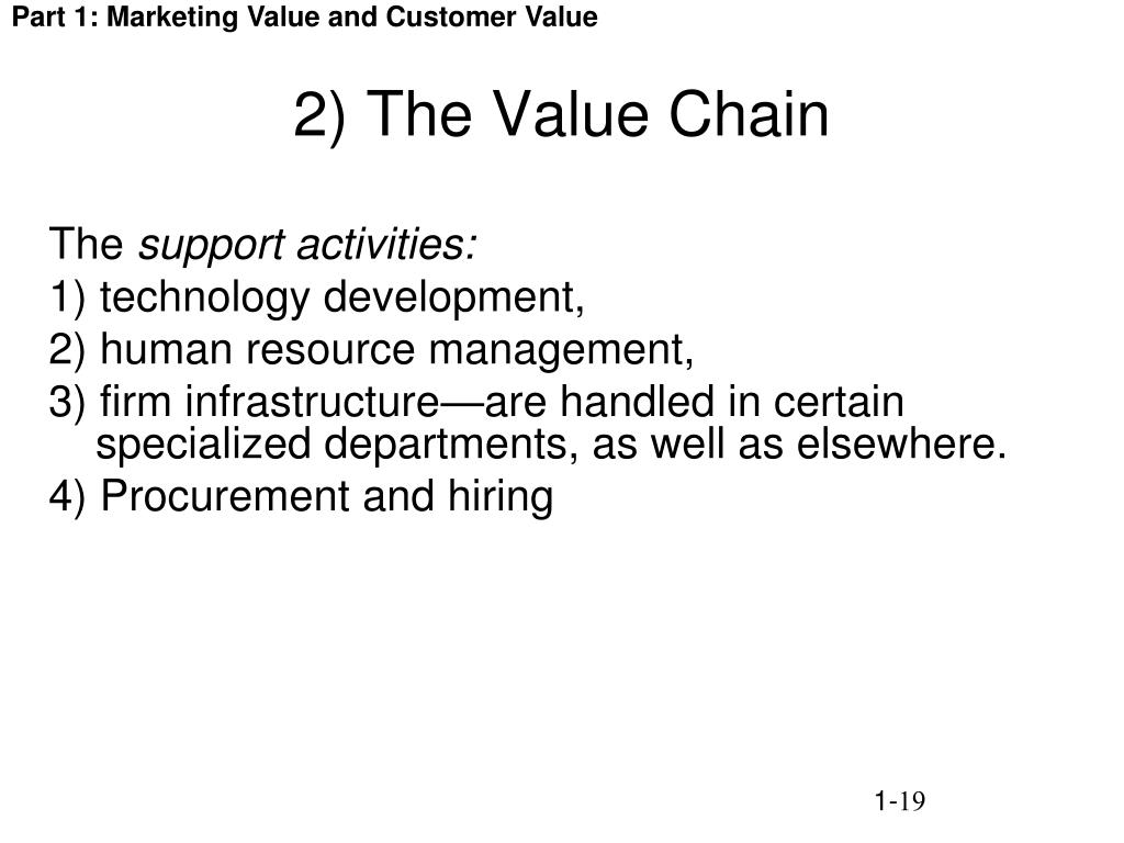 2) The Value Chain