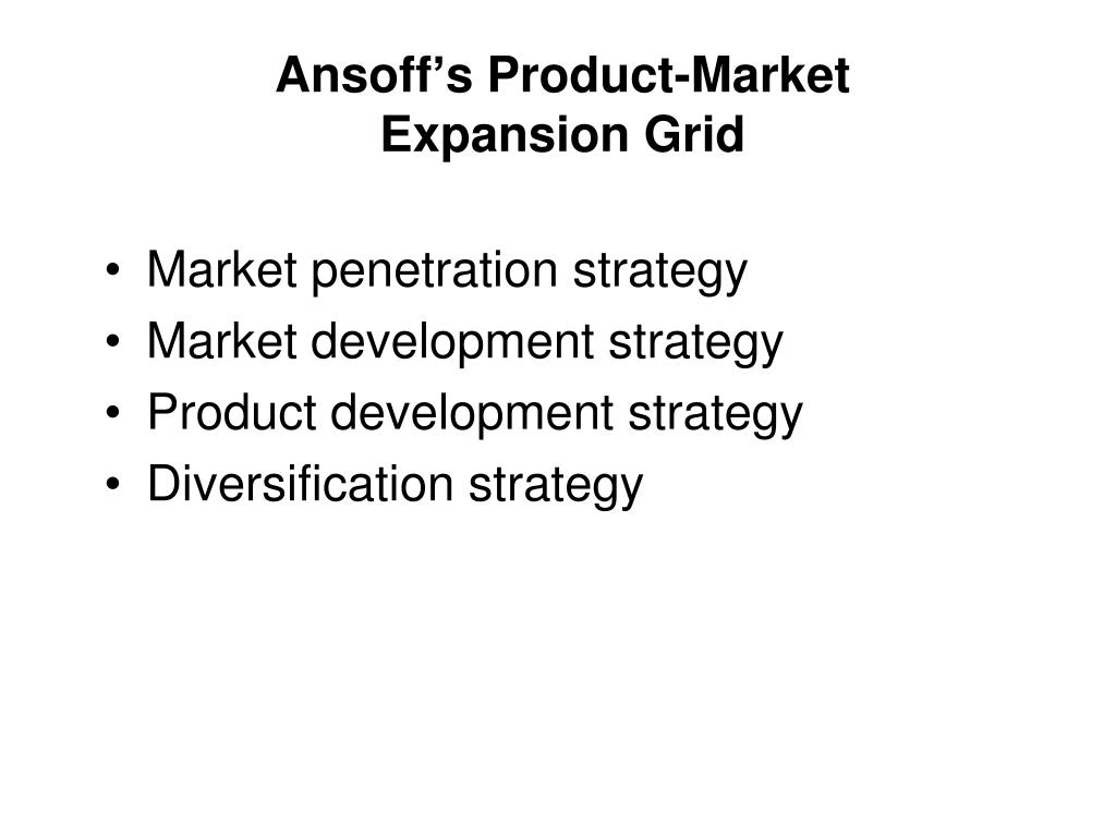 Ansoff's Product-Market