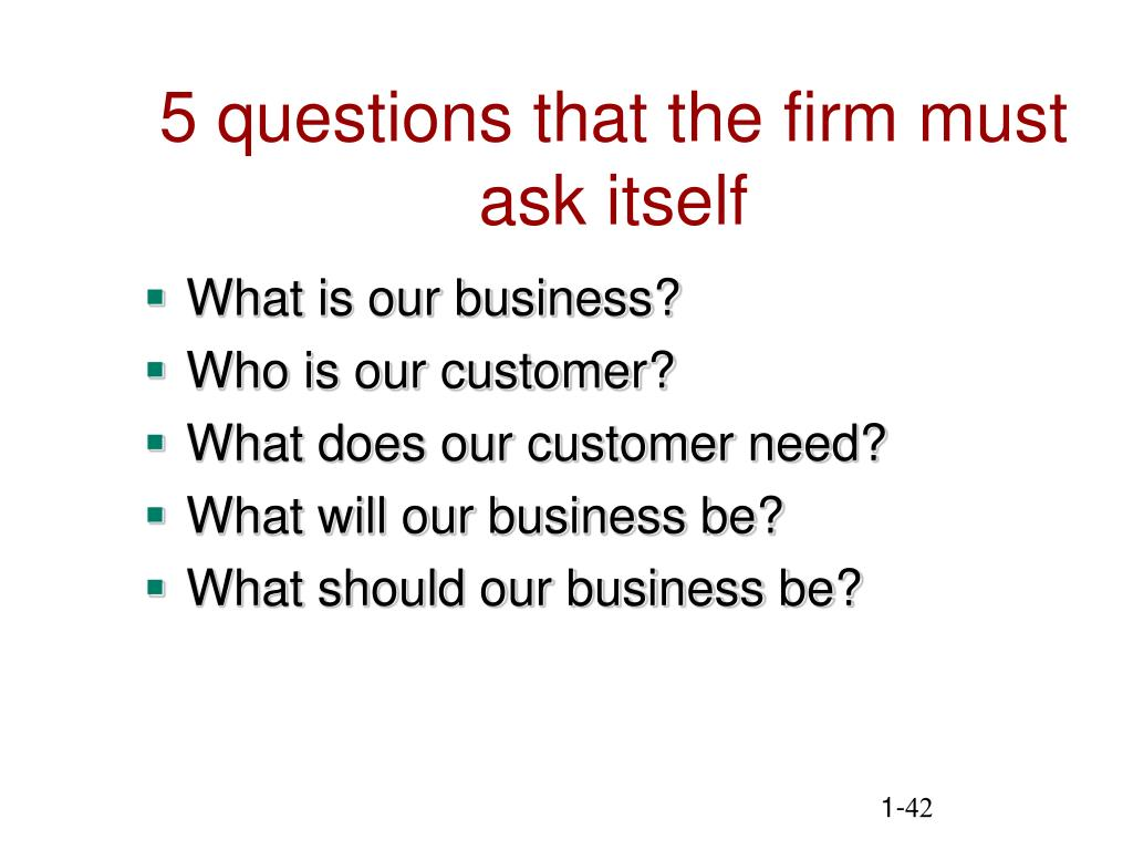 5 questions that the firm must ask itself