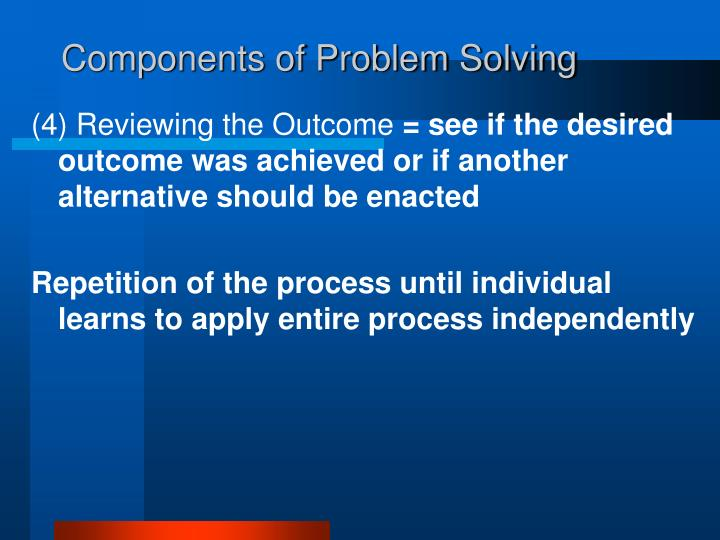 Components of Problem Solving