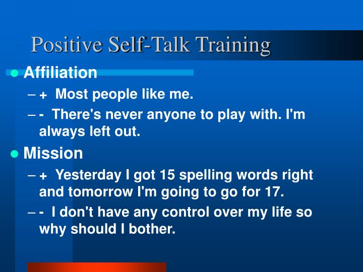 Positive Self-Talk Training
