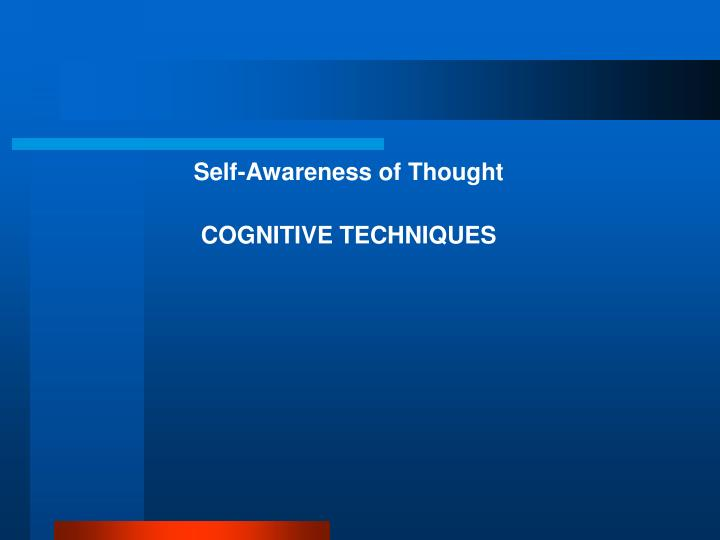 Self-Awareness of Thought